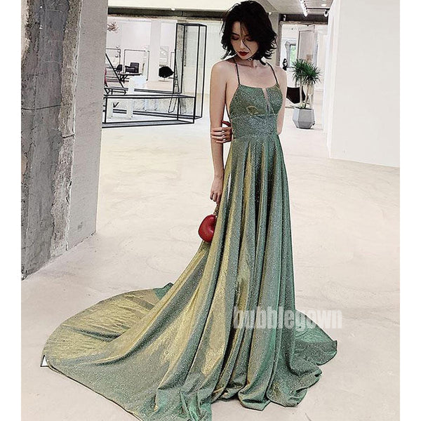 A-line Open Back Popular Long Prom Dresses FP1156