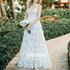 A-line Spaghetti Strap Applique Lace Bridal Long Wedding Dresses, BGH010