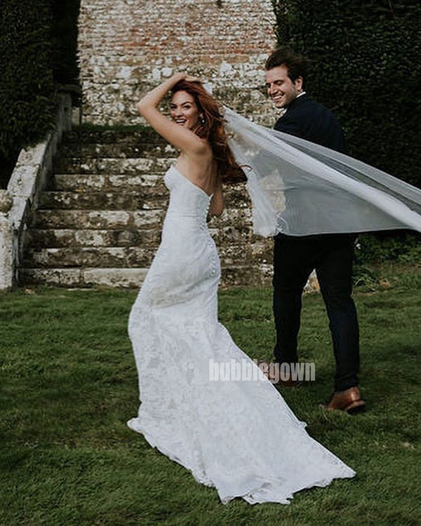 Elegant Sweetheart Mermaid Dream Wedding Dresses, BGH038