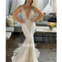 Unique Deep V-neck  Spaghetti Strap Mermaid Dream Wedding Dresses, BGH050