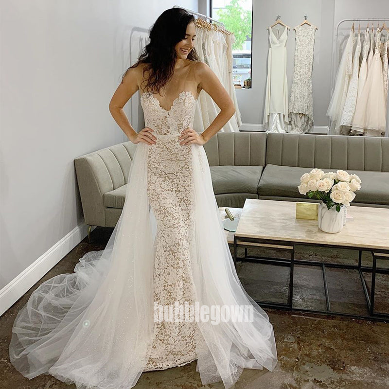 Sexy Sweetheart Mermaid Lace Dream Wedding Dresses, BGH047