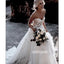 Charming Sweetheart Applique Tulle Long Wedding Dresses, BGH070
