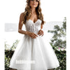 Cute Sweetheart Applique Organza Short Wedding Dresses, BGH071