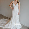 Charming Spaghetti Strap Applique Lace Wedding Dresses, BGH081