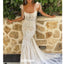 Elegant Spaghetti Strap Lace Mermaid Wedding Dresses, BGH084