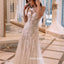 Elegant Applique See Though Lace Wedding Dresses, BGH085