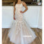 Elegant White Applique Mermaid Long Wedding Dresses, BGH091