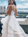 Elegant White A-line Organza Dreaming Wedding Dresses, BGH092