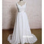 Pretty Soft White A-line Chiffon Dreaming Wedding Dresses, BGH093