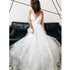 Popular Spaghetti Strap Tulle Simple Cheap Long Beach Bridal Wedding Dresses, BGP250