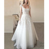 Cap Sleeve Simple Formal A Line Long Beach Wedding Dresses, BGP240