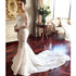 Long Sleeves Mermaid Applique Charming Bridal Long Wedding Dresses, BGP266 - Bubble Gown