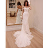 Off the Shoulder Sweethaert Lace Bridal Long Wedding Dresses, BGP268
