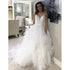 Charming Spaghetti Strap Elegant Inexpensive Bridal Long Wedding Dresses, BGP227 - Bubble Gown