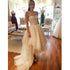 One Shoulder Unique High Low Lovely Lace Bridal Wedding Dresses, BGP249