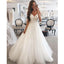 A Line Spaghetti Strap Sweetheart Charming Applique Long Wedding Dresses, BGP261