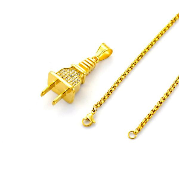 Plug Pendant and Chain