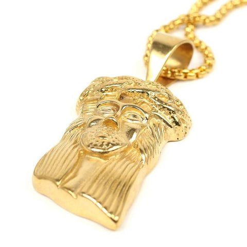 Jesus face Pendant and chain