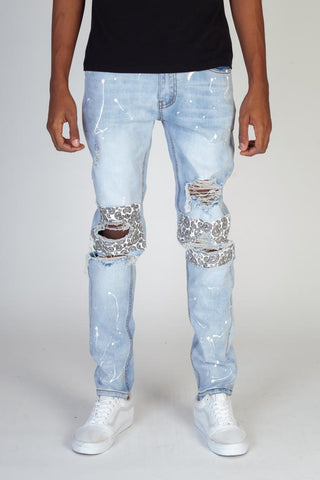 Patch Jeans with paint splatter