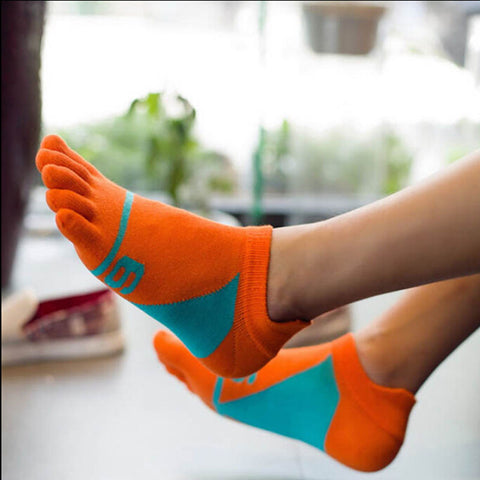 Men Five Finger Cotton Socks