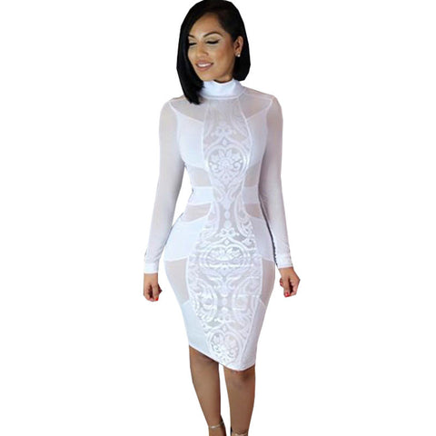 Long Sleeve Sexy Bandage Dress