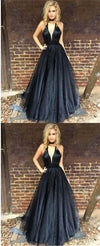 Sexy Deep-V-neck Fashion Cheap Elegant Prom Dresses, A-line Formal Party Dress.  PD0363