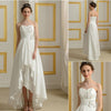 Hi-low Sweetheart Simple Design  White Chiffon Wedding Party Dresses, WD0167