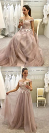 Long Floor-length Lace Appliques High Quality Most Popular New Arrival  Prom Dresses, PD0475