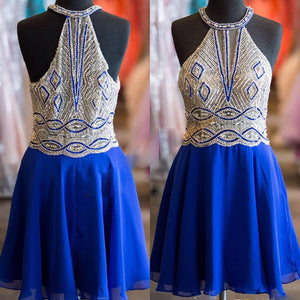 Popular halter off shoulder Vintage gorgeous unique style homecoming prom dress,BD00172