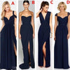 Most Popular Different Styles Mismatched Sexy Chiffon Navy Blue Cheap Bridesmaid Dresses, WG180