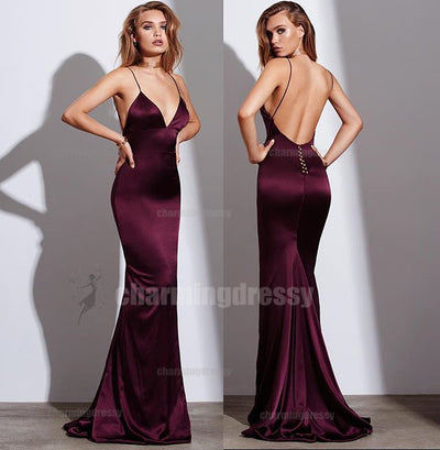Spaghetti Straps Sexy Elegant Formal Long Cheap Fashion Charming Prom Dresses, PD0448