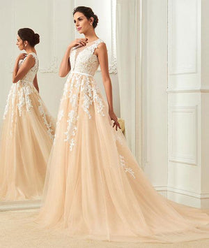 Long Sleeveless Lace and Tulle Most Popular Prom Dresses, Evening dresses, Formal Charming Free Custom Pretty Prom dresses, PD0489