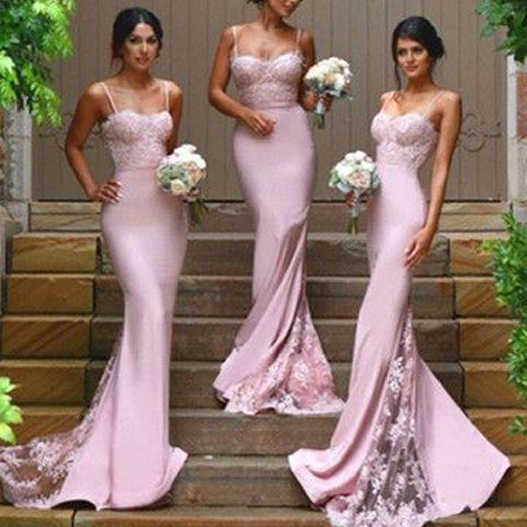 aac6597a08 2019 New Design Online Sexy Mermaid Sweet Heart Lace Long Bridesmaid ...