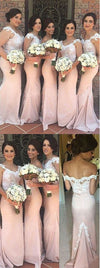 Charming Off Shoulder Lace Mermaid On Sale Sexy Long Wedding Guest Dresses, WG24