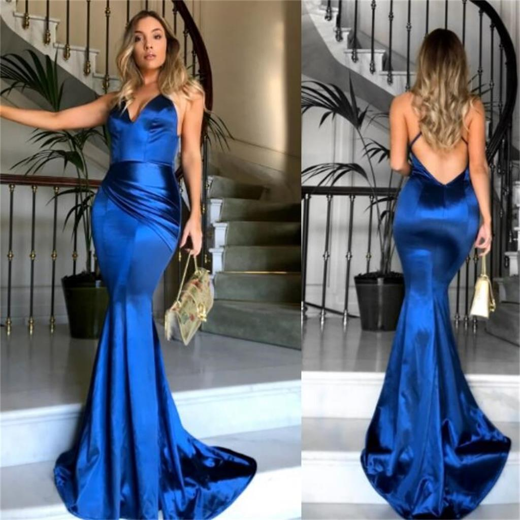 5e7bdaa5142 2019 Royal Blue Sexy Long Prom Dress