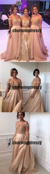 Off Shoulder Beading Shining Gorgeous A-line Bridesmaid dress, Most Popular Bridesmaid Dress,PD0400