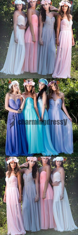 Sweetheart Chiffon Cheap New Unique Design Colorful Bridesmaid Dresses, dresses for wedding, PD0370