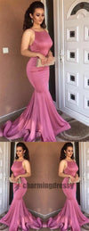 Cheap Halt Sleeveless Mermaid Sexy Prom Dresses, 2018 Prom Gowns, Special Occasion, PD0352