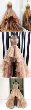 2019 High Low Unique Design Modern Prom Dresses, Popular Fashion Elegant Gorgeous Evening Dress, PD0308