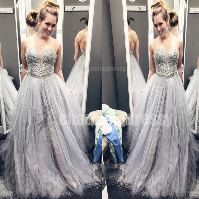 Beading Sparkly Stunning Gorgeous Sleeveless Charming Modest Affordable Prom Dresses, PD0467