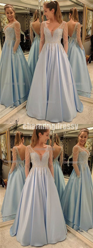 Long A-line Sparkly Stunning Shinning Gorgeous Charming Prom Dresses, Evening dresses,PD0443