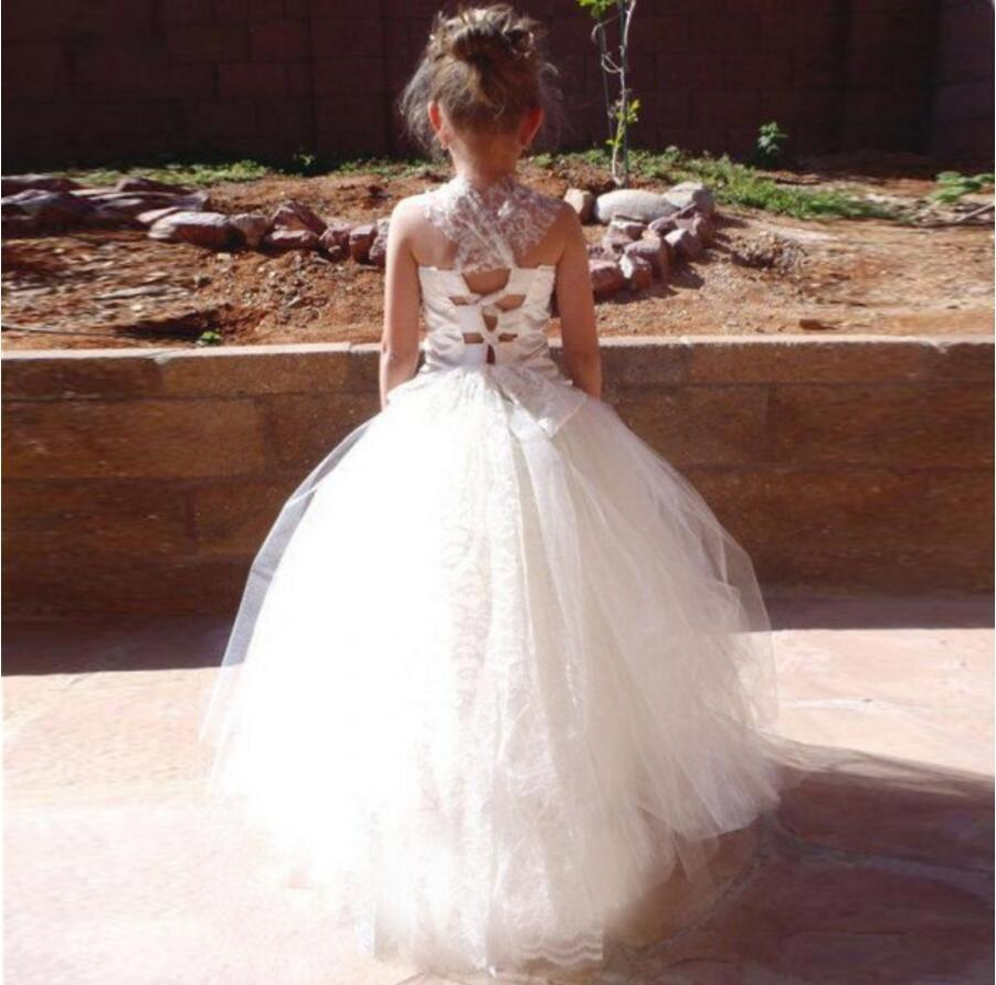 Satin Tulle Lace Flower Girl Dresses, Lovely Tutu Dresses, FGS005