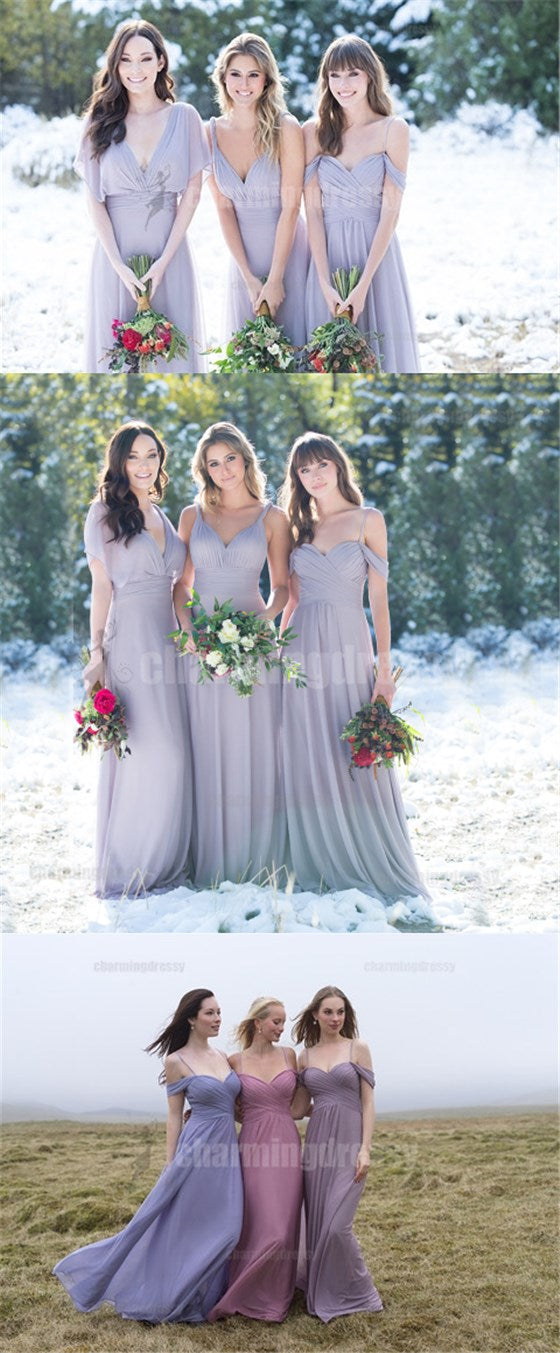 Mismatched Chiffon Cheap Newest Soft Bridesmaid Dresses, bridesmaid dress, Popular Wedding guest dress, PD0418