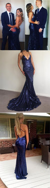 2020 Charming Sexy Spaghetti Straps Mermaid Prom Dresses, Sparkly New Unique Design Prom Dress, PD0320