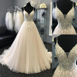 Light Charming Tulle Lace Long Prom Dresses, Evening dresses, Formal Charming Free Custom Pretty Prom dresses, PD0489