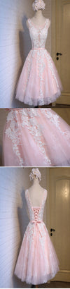 Short pink lace tight cute charming freshman homecoming prom gowns dress,BD0071