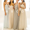 Popular Mismatched Simple Chiffon  Custom  High Quality Affordable Bridesmaid Dresses, WG076