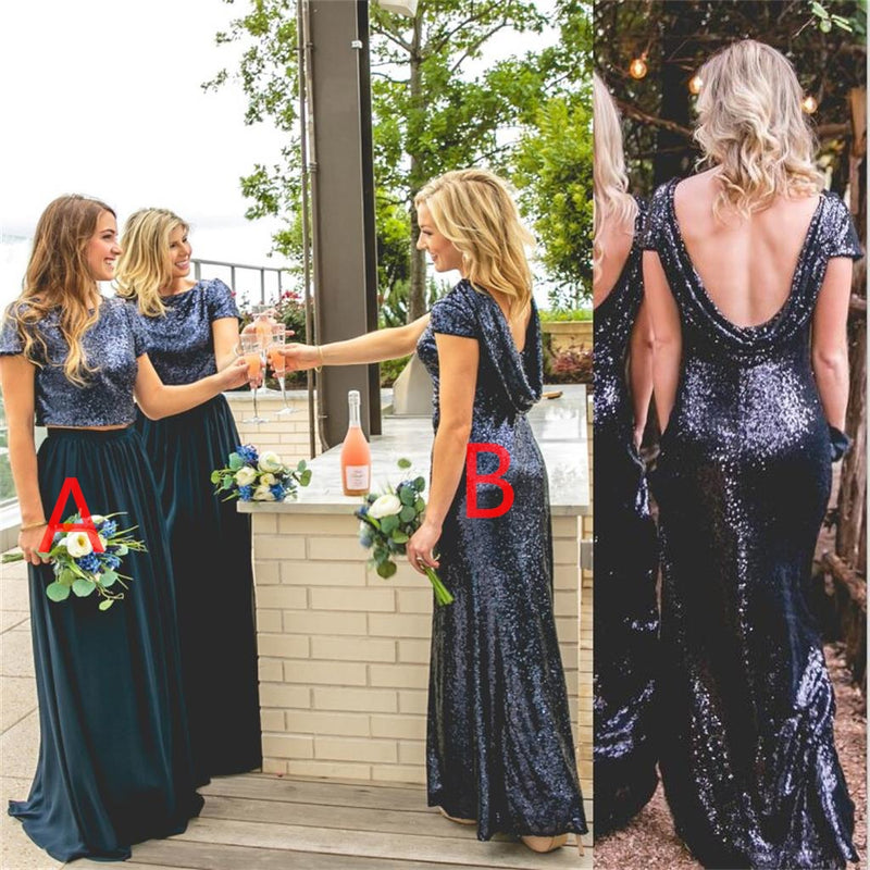 Charming Mismatched Sequin Sparkly Bridesmaid Dresses, Popular Bridesmaid Dress, PD0339