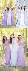 Long Lace Pretty Simple Generous Fairy Wedding Dresses, High Quality Affordable Beach Wedding Gown, PD0429