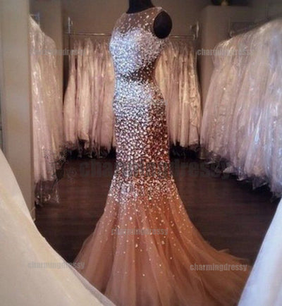 Open Back Sparkly Rhinestone New Arrival Prom Dresses, Evening Dress, Fashion gown, PD0481